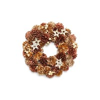 【33%OFF】クリスマスリース Two Gold Color Wreath