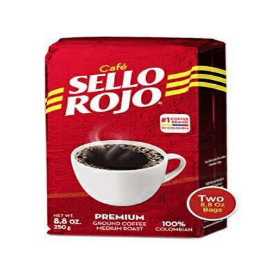 Sello Rojo Columbian Coffee | Best Coffee Selling Brand in Colombia | 8.8 Oz Supremo Ground Coffee...