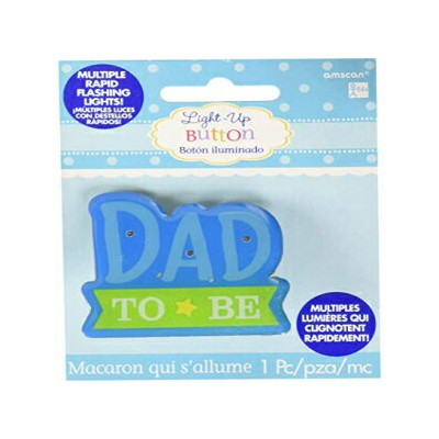 "amscan Baby Shower Accessories Party Decoration, 2"" x 2. 25"", Blue"