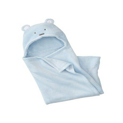 Just 2 Cute Blue Dog Hooded Ultra Soft Baby Swaddling Wrapping Blanket for New Born, Infant Or Tiny...