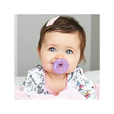 Nuby 2 Piece 100% Silicone Natural Cherry Shape Pacifiers, 0-6 Months