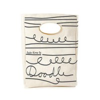 Fluf Textile Goods Take Time To Doodle オーガニックコットン ランチバッグ○IFF0005 Take time to doodle lunch bag お弁当箱...