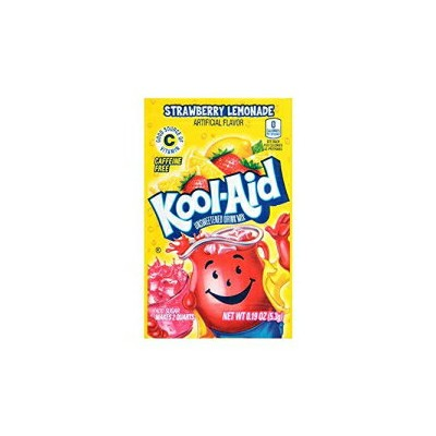 Kool-Aid Strawberry Lemonade Unsweetened Drink Mix、0.19 oz、Pack of 48 Envelopes Kool-Aid Strawberry...