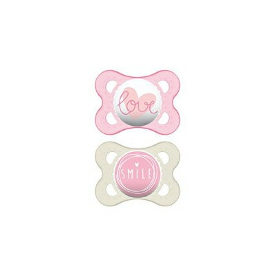 MAM Pacifiers, Baby Pacifier 0-6 Months, Best Pacifier for Breastfed Babies, `Attitude' Design...