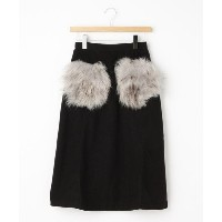 【OFF PRICE STORE(Women)(オフプライスストア(ウィメン))】 Clear ファー付きポケットミモレ丈スカート OUTLET > OFF PRICE STORE(Women) >...
