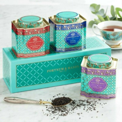 [50gx3缶セット] FORTNUM & MASON Gift Caddy Selection Earl Grey & Royal Blend & Afternoon Blend Loose...