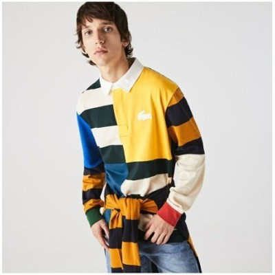 LACOSTE LACOSTE L!VEクレイジーパターンラガーシャツ ラコステ カットソー ポロシャツ【送料無料】