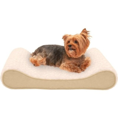 FurHaven ファーヘイヴン ペットグッズ 犬用品 ベッド・マット・カバー ベッド【Ultra Plush & Suede Luxe Lounger Memory Top Dog Bed】cream