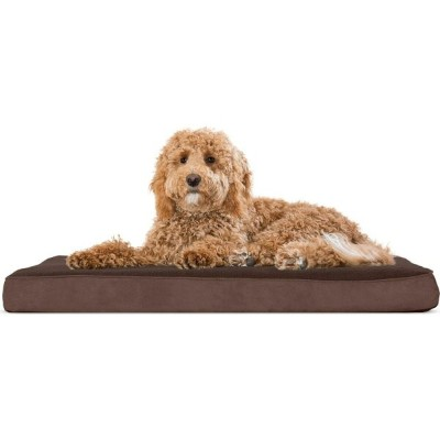 FurHaven ファーヘイヴン ペットグッズ 犬用品 ベッド・マット・カバー ベッド【Snuggle Terry & Suede Deluxe Orthopedic Mattress Dog Bed】espresso