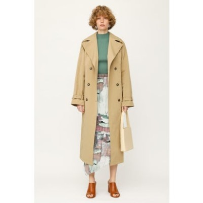 WRINKLE TRENCH コート BEG
