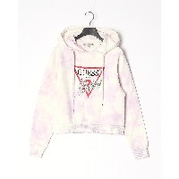 GUESS HOOD ICON FLEECE○W01Q20K68I0 ライトピンク トップス