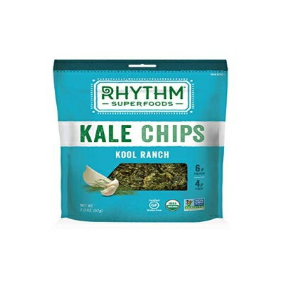 Rhythm Superfoods Organic Kool Ranchケールチップス、2オンス-ケースあたり12 Rhythm Superfoods Organic Kool Ranch Kale...