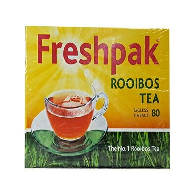 Freshpak Rooibos Tea - 1 Pack of 80 Tagless Tea Bags - Imported from South Africa