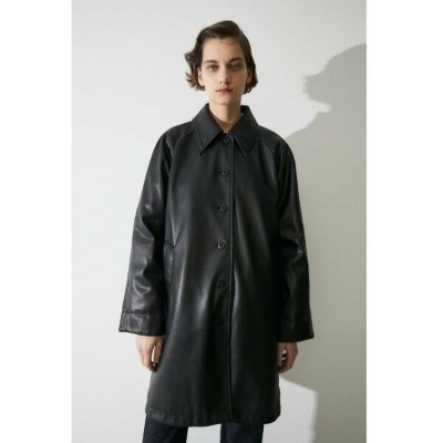 【SALE/40%OFF】MOUSSY F/LEATHER A LINE ジャケット マウジー コート/ジャケット コート/ジャケットその他 ブラック ホワイト【送料無料】