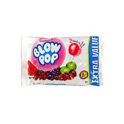 Charms (1) Bag Blow Pop Bubble Gum Filled Pops - 2 Treats in 1! Assorted Flavors Lollipop Halloween...