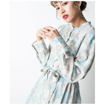 【SALE/20%OFF】Million Carats STYLE4 【STYLE4】カラーMIXシャツワンピース ミリオンカラッツ ワンピース シャツワンピース ブルー【送料無料】