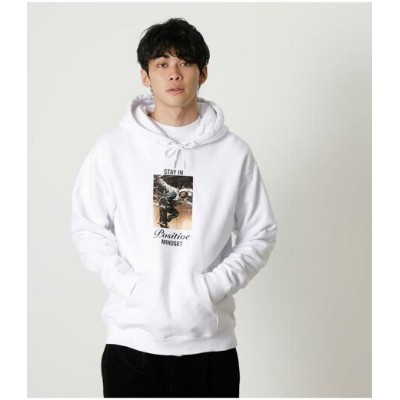 【SALE/66%OFF】AZUL by moussy STAY IN POSITIVE HOODIE アズールバイマウジー カットソー パーカー ホワイト ブラック パープル【RBA_E】