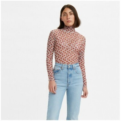 Levi's SECONDSKIN MOCKNECK SMALL FOLKSY FLORAL リーバイス カットソー Tシャツ【送料無料】