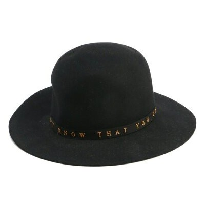 HYSTERIC GLAMOUR (M)STETSON×HYSTERIC/MESSAGE 刺繍リボンハット ヒステリックグラマー 帽子/ヘア小物 ハット ブラック ブラウン【送料無料】