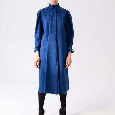 Lemaire ルメール Stand-collar cotton dress ワンピース