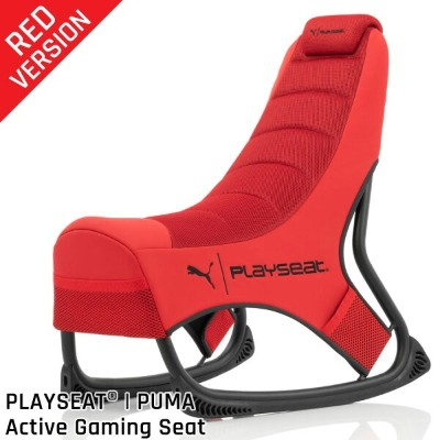 Playseat @puma active gaming Chair Red アクティブゲーミングチェア 姿勢に合わせて傾く新スタイルのゲーミングチェア PPG00230【国内正規品】