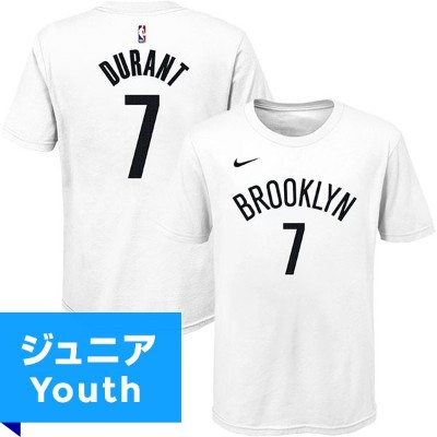 NBA ケビン・デュラント ネーム&ナンバーTシャツ ネッツ(ジュニア ホワイト) Nike Kevin Durant Brooklyn Nets Youth White Name & Number...