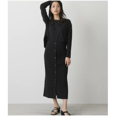 【SALE/50%OFF】AZUL by moussy FRONT BUTTON CUT ONEPIECE アズールバイマウジー ワンピース 5ー9分袖ワンピース ブラック ブラウン ホワイト カーキ