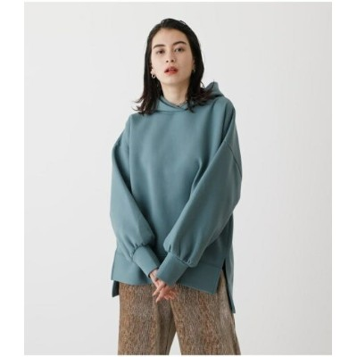 【SALE/50%OFF】AZUL by moussy CARDBOARD MATERIAL HOODIE アズールバイマウジー カットソー パーカー ホワイト グリーン