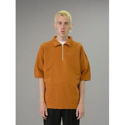 【SALE/40%OFF】BEAUTY & YOUTH UNITED ARROWS  monkey time  F/TRY DISTRESSED HALF ZIP POLO/ハーフジップスウェット...