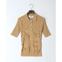 TRADITIONAL WEATHERWEAR SHORT SLEEVE RIB KNIT POLO○L201SMKPO0251CX Cx01/camel トップス