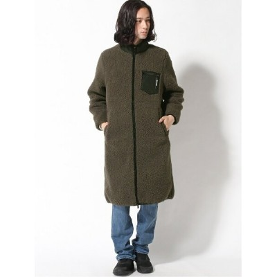 【SALE/60%OFF】GUESS (M)Boa Zip-Up Long Jacket ゲス コート/ジャケット コート/ジャケットその他 グレー ピンク【RBA_E】【送料無料】