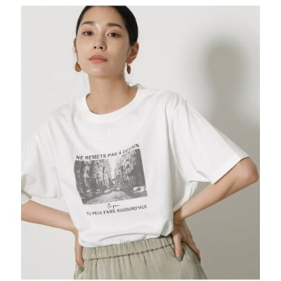 AZUL by moussy SEPIA PHOTO TEE アズールバイマウジー カットソー Tシャツ ホワイト
