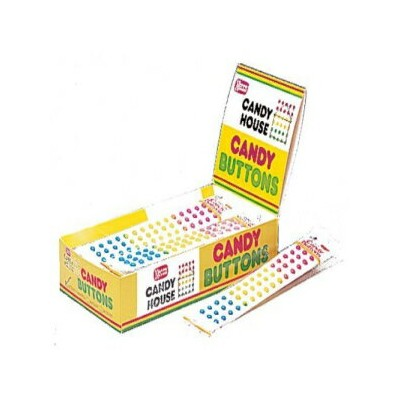 NeccoのCANDYBUTTONS 24個の2ストリップパック(48ストリップ) CANDY BUTTONS by Necco twenty four 2-strip packs (48...