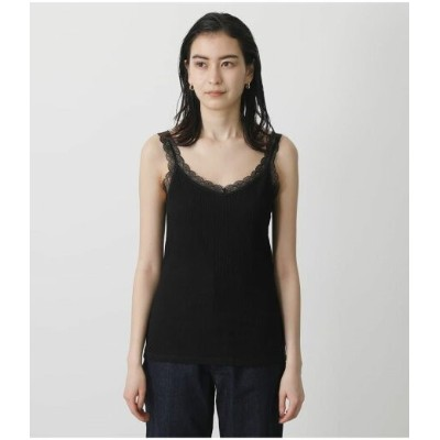 AZUL by moussy BASIC LACE CAMISOLE アズールバイマウジー カットソー キャミソール ブラック ホワイト