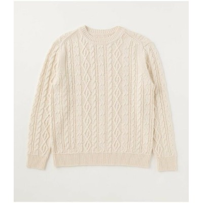 【SALE/50%OFF】AZUL by moussy CABLE PATTERN C/N KNIT アズールバイマウジー ニット ニットその他 ホワイト ベージュ