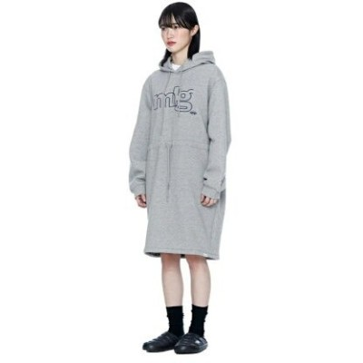 【SALE/20%OFF】87MM 87MM MLG HOOD ONE-PIECE アトモスピンク ワンピース シャツワンピース グレー【送料無料】