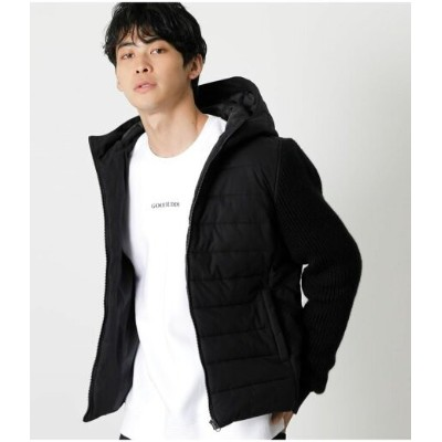 【SALE/50%OFF】AZUL by moussy PADDED SWITCHING HOODED JACKET アズールバイマウジー コート/ジャケット コート/ジャケットその他 ブラック...