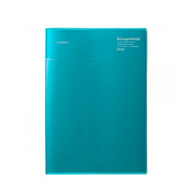 【10%OFFクーポン】ラコニック2021年9月始手帳A5 VERTICAL LEFT WORK DIARY month&weekポケットTURQUOISE('21.9〜'22.12)...