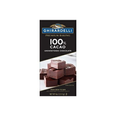 100% Cacao Unsweetened Chocolate, Ghirardelli Premium Baking Bar 100% Cacao Unsweetened Chocolate,...