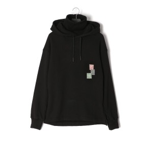 【67%OFF】ロールネック パーカ Stamp Collection 1 Roll-neck Hoodie ブラック s