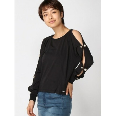 GUESS (W)BEADS TOP ゲス カットソー Tシャツ ホワイト【送料無料】