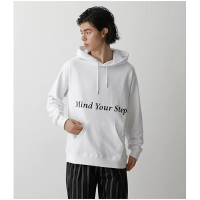 AZUL by moussy MIND YOUR STEP HOODIE アズールバイマウジー カットソー パーカー ホワイト ブラック【送料無料】