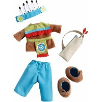 """HABA ハバ社 おもちゃ 人形 ドール ぬいぐるみ インディアン衣装セット Little American Indian Outfit Set for 12"""" to 14"""" Dolls"""
