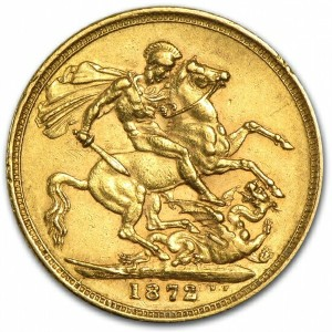 Great Britain Gold Sovereign of Victoria Young Head EF