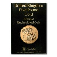 Great Britain 1984 5 Pounds Gold Brilliant