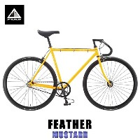 フジ FUJI 正規販売店 2015 自転車 FEATHER (SINGLE SPEED) MUSTARD