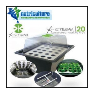 LEDも使える 水耕栽培 キット クローン専用 nutriculture X-STREAM 20 Hydro Systems