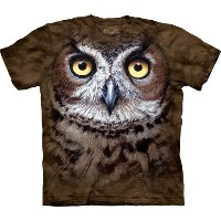 S-Lサイズ The Mountain Great Horned Owl Head メンズ フクロウ アメリカワシミミズク メーカー直輸入品 Tシャツ