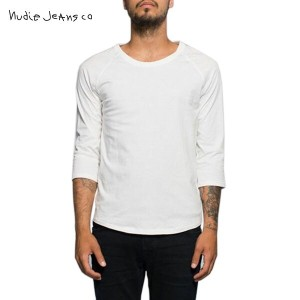 【25%OFFセール 3/16 10:00~3/19 9:59】 ヌーディージーンズ Nudie Jeans 正規販売店 メンズ 七分袖Tシャツ Quater Sleeve 131302 4004...