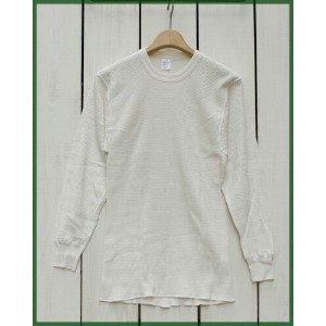 Morgan Mills Cotton Thermal Crew Neck Longsleeve Natural / non wash / dead stock モーガン ミルズ コットン サーマル...